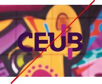 logo CEUB - Uso incorreto - Aplicar sobre fundos complexos